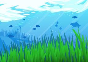 Sous la scène vectorielle de la mer