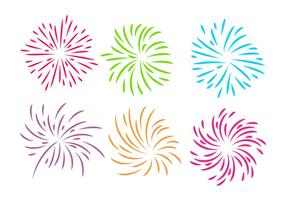 Fireworks White Background Vector