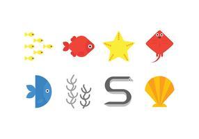 Zee leven vector iconen
