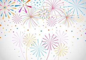 Set Watercolor Fireworks