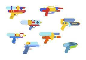 Flache Wasserpistole Vektoren