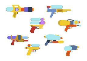 Flat Water Gun Vectors