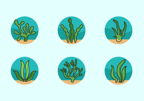Pack de vecteur libre de mauvaises herbes de mer