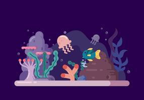 Ilustração da vida subaquática