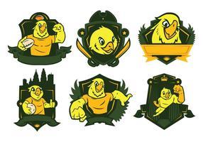 Vetor do logotipo do papagaio