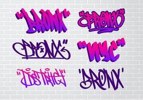 Bronx Graffiti etiqueta libre de vectores