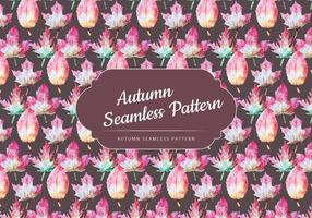 Vector Autumn Leaves Pattern