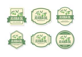 Jojoba Olie Label Gratis Vector