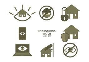 Free Neighborhood Watch Icon Set