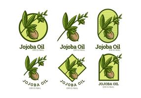 logotipo de óleo de jojoba vetor livre