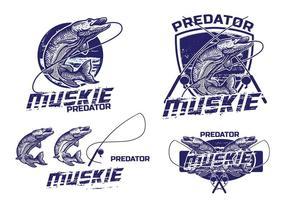 Elemento Logotipo Muskie vetor