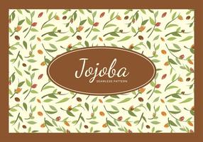 Jojoba Seamless Pattern Free Vector