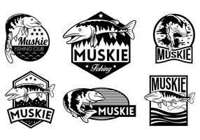 Muskie-Vektor-Abzeichen
