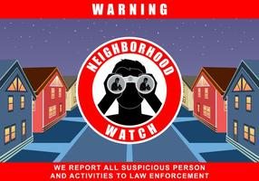 Neighborhood Watch Program Vector