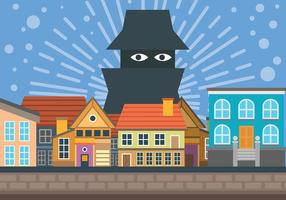 Neighborhood Watch Vector Background