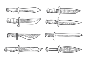 Handgezeichnetes Bajonett