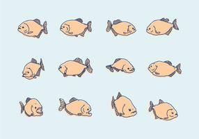 Piranha Handdrawn Pictogrammen