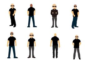 Free Standing Bouncer / Bodyguards Vector