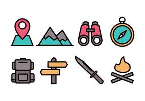 camp icon set