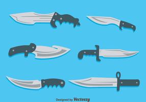 Bayonet-collection-on-blue-vector