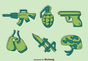 Hand Drawn Military Element Vector