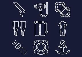 Spearfishing Line Icons