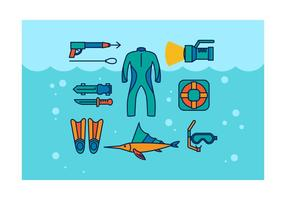 Free Spearfishing Vector Icons