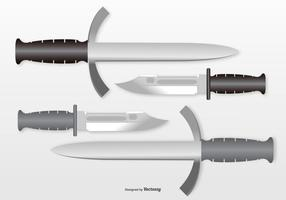 Bayonet Knifes Illustration