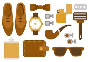 Free Hipster Man Accesories Vector