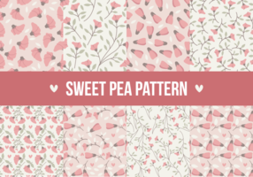 Sweet Pea Seamless Patterns