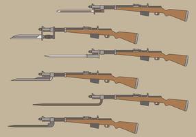 Ícones de vetor de baioneta