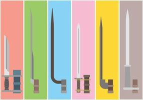 Bayonet Vector Iconos