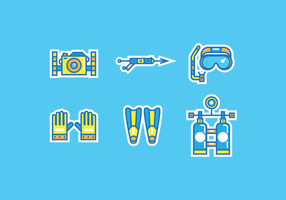 Spearfishing Pack Vector Libre