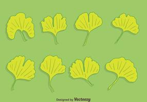 vecteur de collection de feuilles de ginkgo