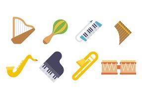 Instrumentos De Música Vector Icono