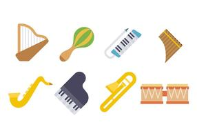 Musikinstrument Ikonvektor