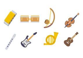 Vettore dell'icona degli strumenti di musica
