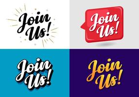 Join Us Sign Vectors