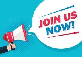Join Us Megaphone Vector
