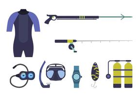 platt spearfishing vektorer