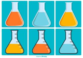 Erlenmeyer Vector Icon Collection