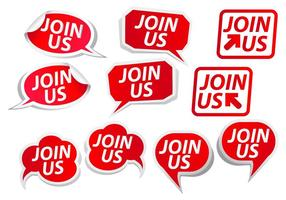Join Us Bubble Button Vectors