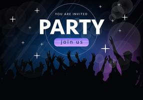 Bli med oss ​​Party Invitation Vector