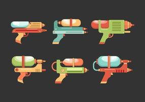 Watergun Collection Vector Illustration