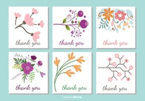 Collection de cartes de remerciements floral mignonne