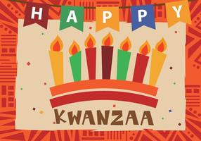 Happy Kwanzaa con Kwanzaa Candle
