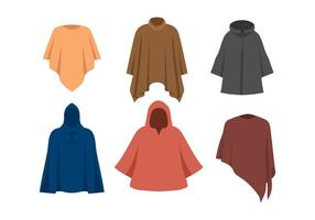Poncho Models Free Vector