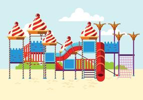 Playground for Children or Jungle Gym vector