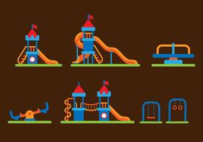 Flat Jungle Gym Vectors