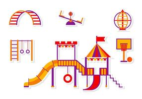 Jungle Gym Sticker Vectors